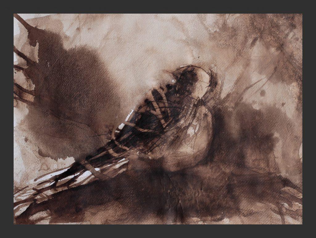 Vogel, 2009, Aquarell, 24x32 cm