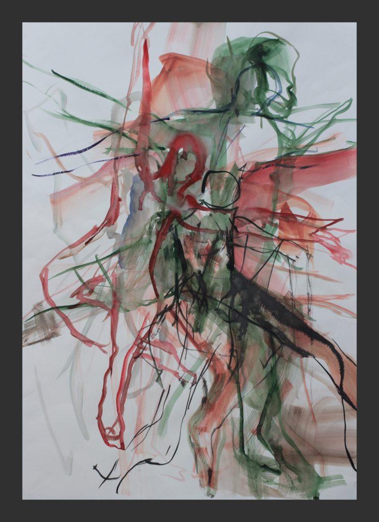 Tänzer, 2012, Aquarell, 50x70 cm