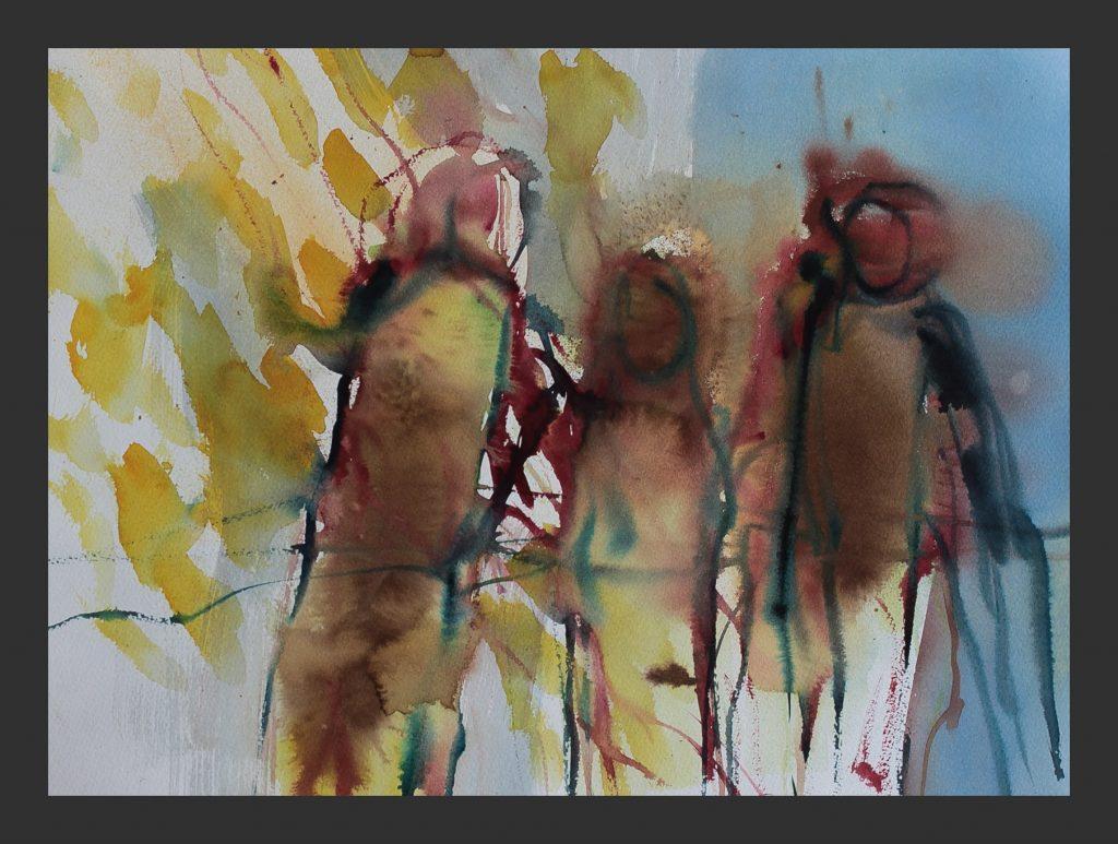 Familie,2012, Aquarell, 35x50 cm
