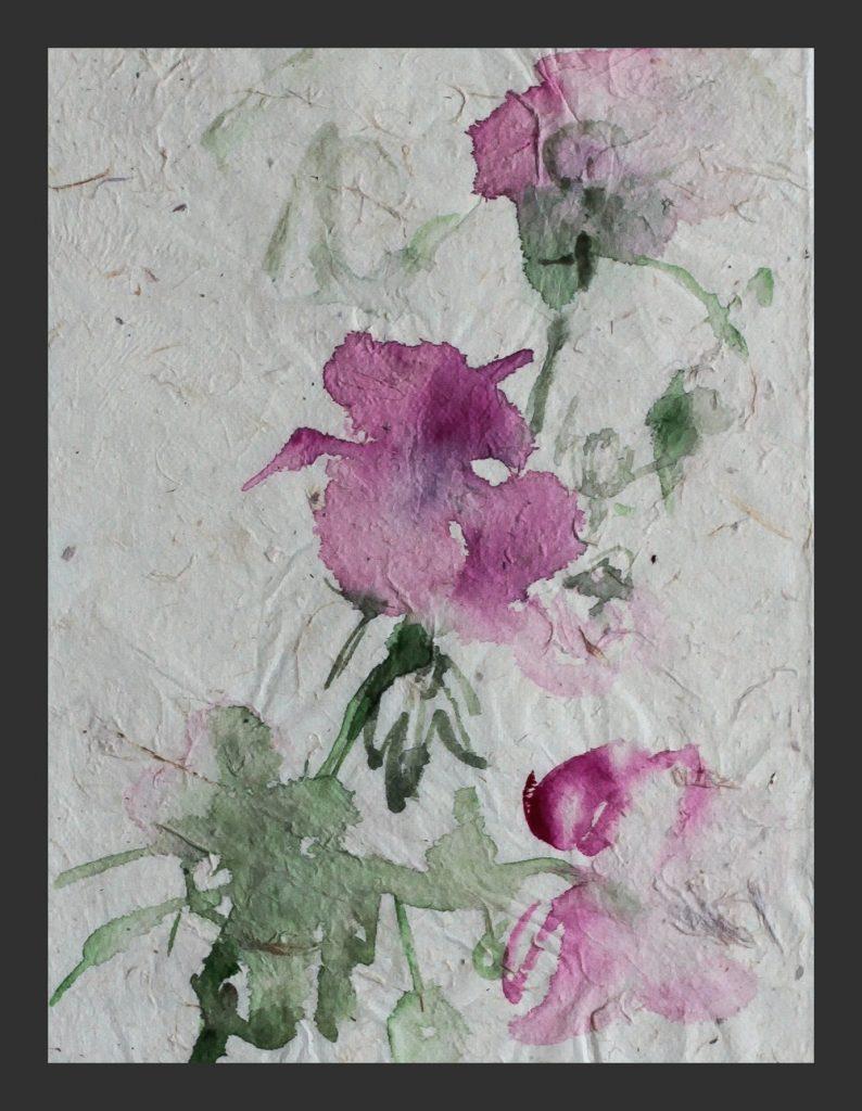 Rose, 2011, Aquarell auf Japanpapier, 15x21 cm