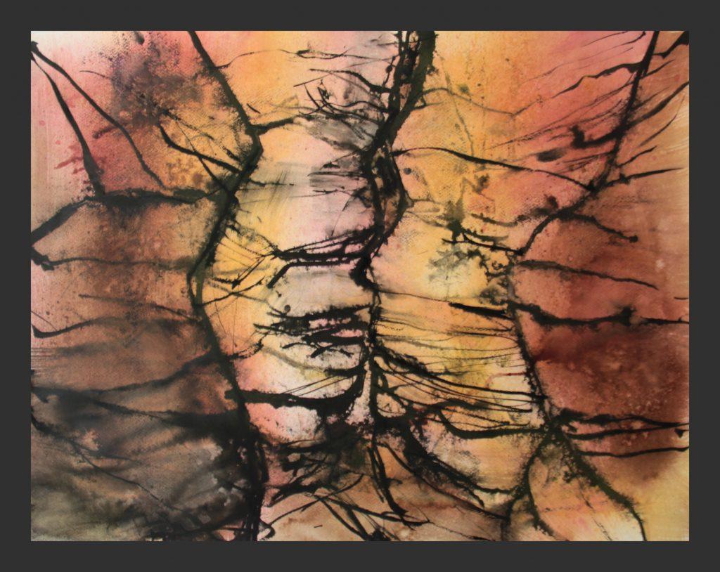 Antlope Canyon, 2016, Aquarell, 50x70 cm