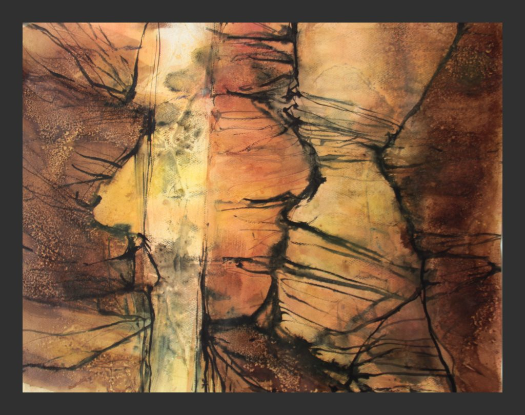 Antelope canyon, 2016, 50x70 cm