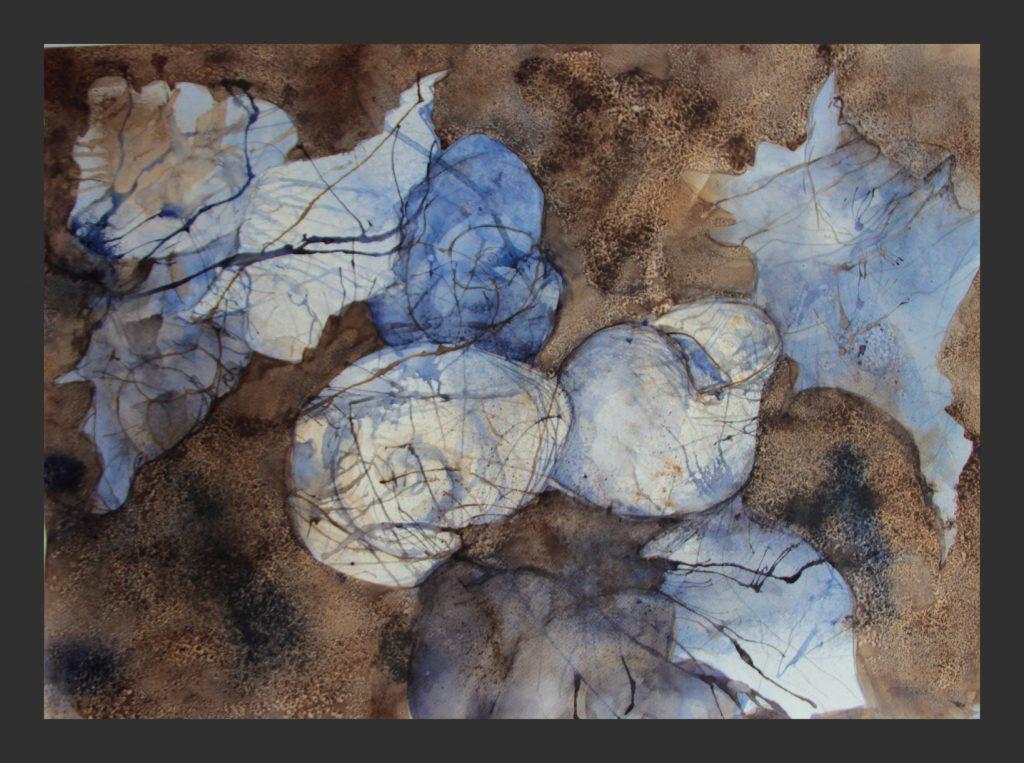 Strandgut, 2016, Aquarell, 50x70 cm