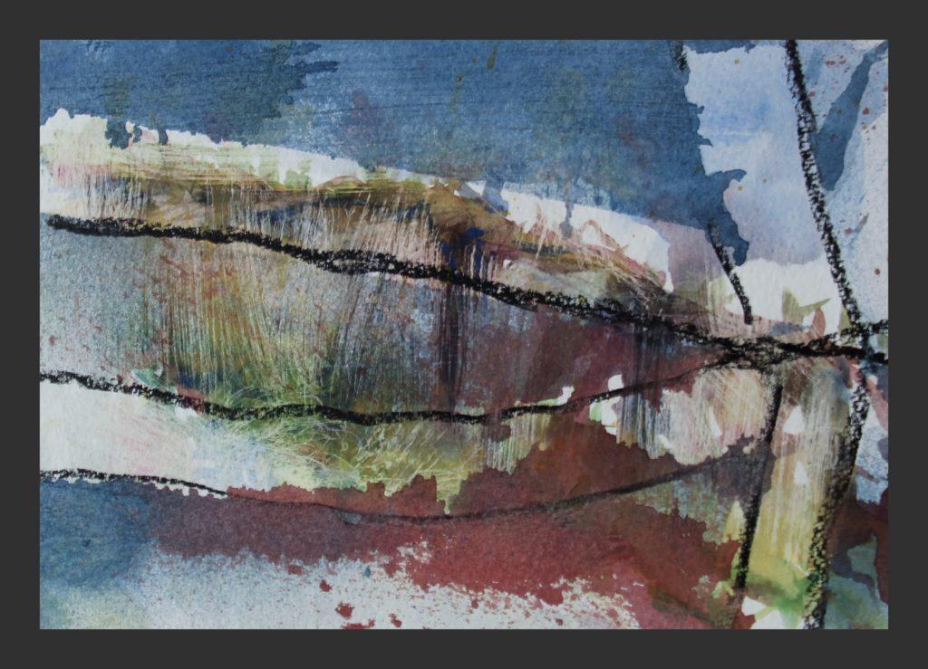 2015, Aquarell und Kreide, 17x24 cm