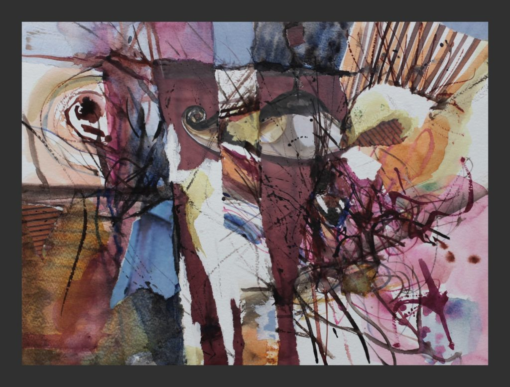 Collage, 2010, Aquarell, 30x40 cm