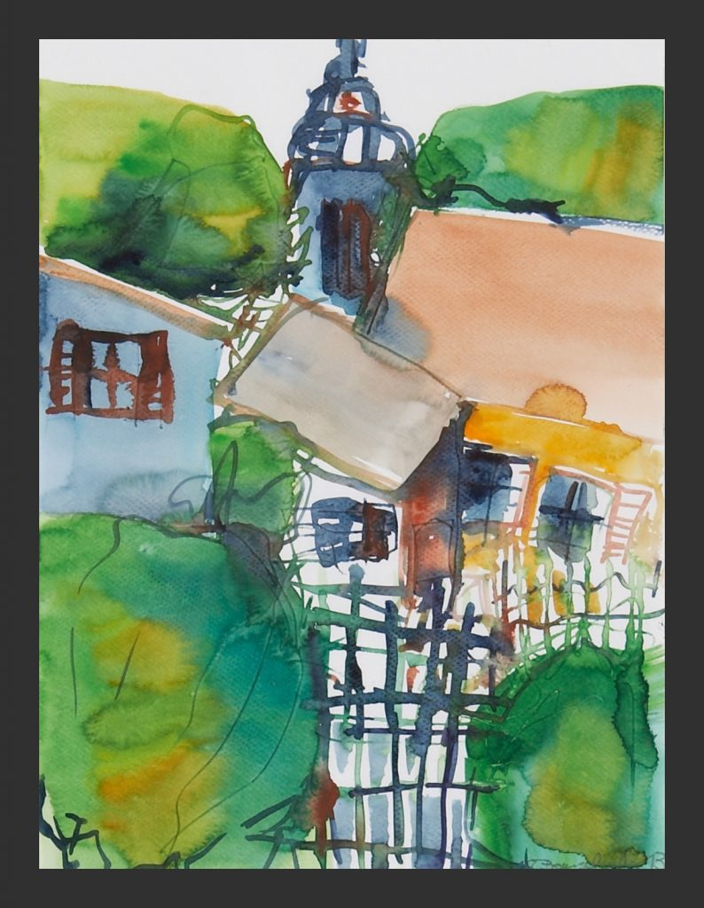 Stiftskirche in Elsey, 2012, Aquarell, 28x31 cm