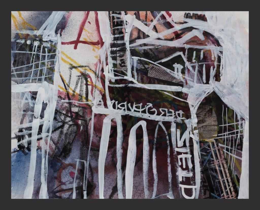 Urban, 2010,  Aquarell und Mischtechnik, 24x30cm