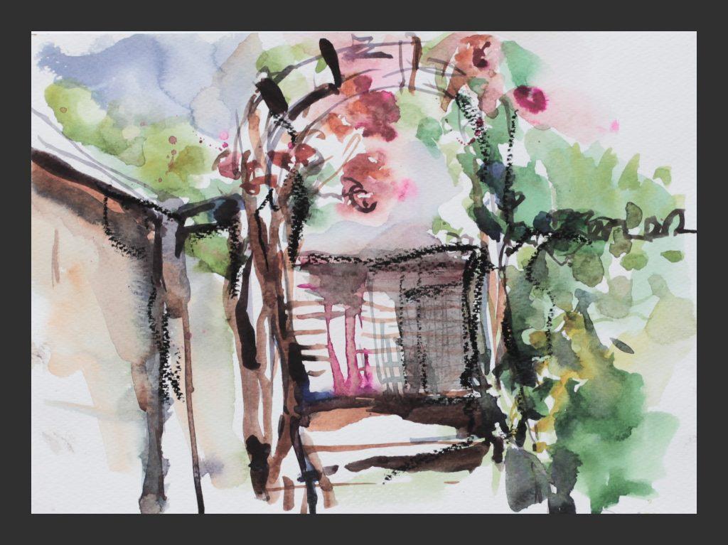 Im Garten, 2013, Aquarell, 21x28 cm