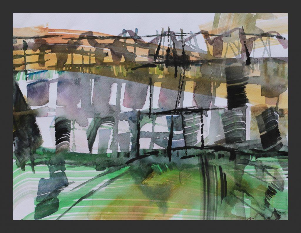 Schloss, 2012, Aquarell, 21x28 cm