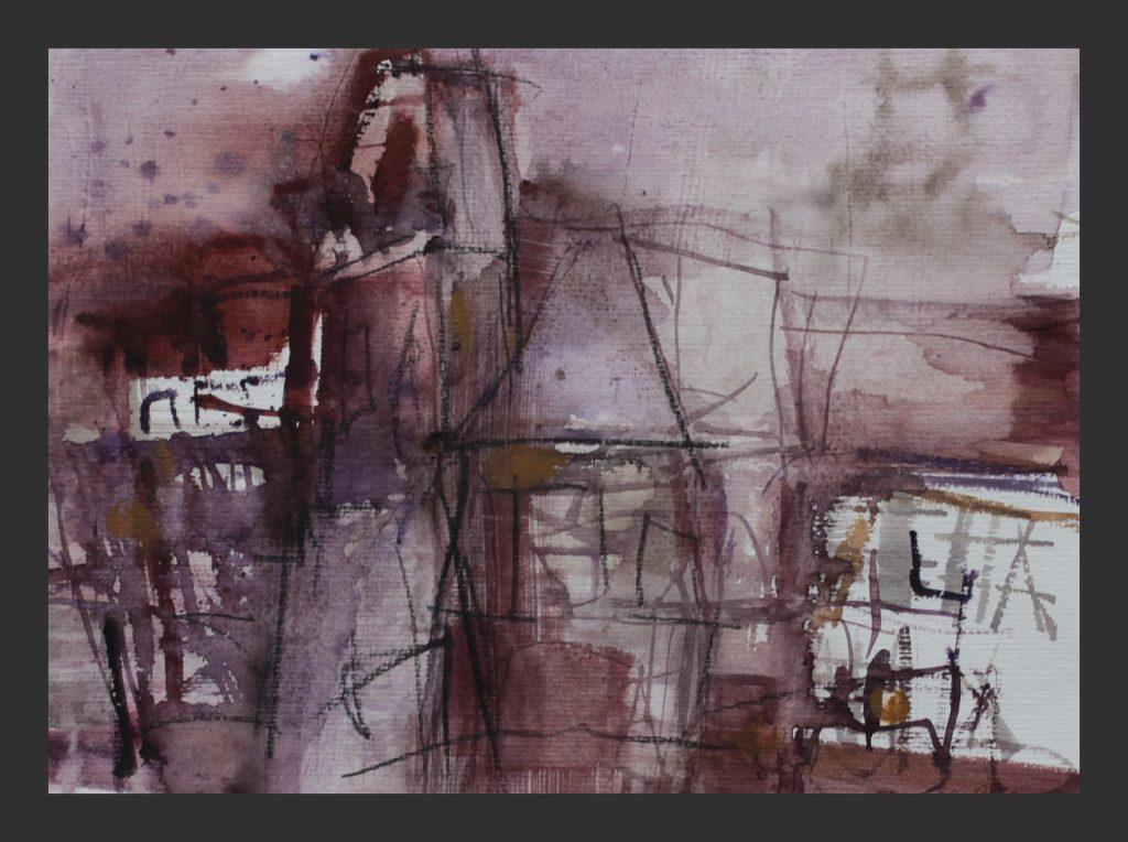 Schloss, 2015, Aquarell,  24x32 cm